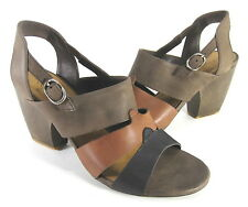 COCLICO WOMEN'S VALENCIA WEDGE SANDAL BLK/HZLNUT/MSHRM EUR 39.5/US SZ 9.5 MEDIUM