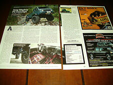 JEEP MIGHTY FC CONCEPT CAR ***ORIGINAL 2012 ARTICLE***