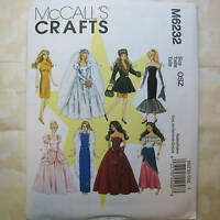 McCall's Pattern 6232 11.5in Fashion Doll 8 Outfits NEW!