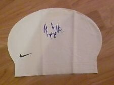 RYAN LOCHTE 2012 OLYMPIC GOLD MEDAL SWIMMER SIGNED SWIMMING CAP *PROOF