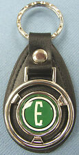 Vintage Green 1960 EDSEL E Ford Mini Steering Wheel Leather Keyring Key Fob