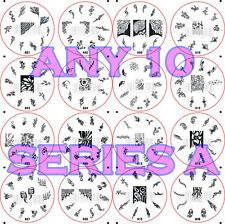 10 x Nail Art Stamping Image Template Plate A Series