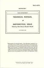 TM 9-879:  Operator & Maintenance Manual for 1942 Harley WLA Motorcycle