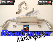 Milltek Audi TT MK2 3.2 V6 Exhaust CAT BACK non res Dual 100 mm GT100 SSXAU257