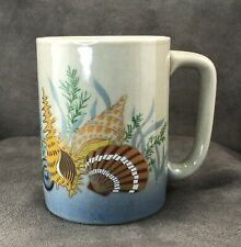Vintage Otagiri Coffee Mug Cup Seashells Shells Nautical Ocean Stoneware Japan