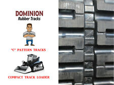 (2) DOMINION RUBBER TRACKS, C PATTERN, 320X49X86 BOBCAT T550 OR T590