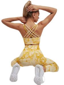 Womens Sportswear Yoga Set Workout Clothes Athletic Wear Sports Bra Gym Leggings