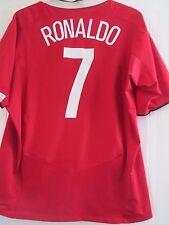 Manchester United 2004-2005 CL Ronaldo 7 Hogar Camiseta De Fútbol Talla Grande/41638