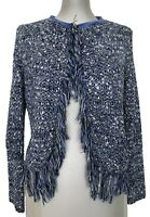 MAJE 'MALAGA' BLUE BOUCLE CARDIGAN SWEATER, 1, $495