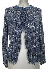 MAJE 'MALAGA' BLUE BOUCLE CARDIGAN SWEATER, 1, $495