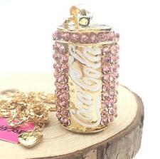 Charm Betsey Johnson Jewelry Pendant Rhinestone Chain Coke bottle Women Necklace