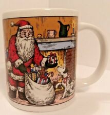 Set of 4 SANYEI MIYAZAKI Create Christmas Coffee Cups Santa Mug gift Holiday cup