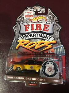 2000 Hot Wheels Fire Dept Rods 40 Ford San Ramon California FD Fire Fighters Wow