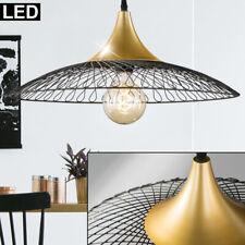 VINTAGE LED pendule plafonnier grille lit chambre lampe suspendue BLACK GOLD