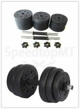 20KG Pair Body Building Gym Adjustable Barbells Cement Dumbbells Sports Indoors