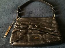 New Cole Haan Bronze Brown Soft Pebbled Leather Ruched Shoulder Purse B27119