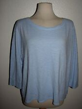 New Eileen Fisher Organic Cotton Sustainable Fiber Ballet Neck Top size LARGE
