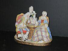 Scène De Jeu d'échec, biscuit, époque Fin 19ème.