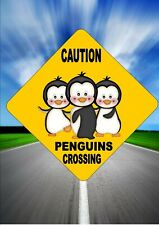 Penguin Sign Fun Novelty Children's Room sign Comedy Road Sign Child's Room