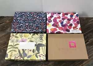 Empty Birchbox Boxes Lot of 4 Floral Craft Storage Organization Reusable