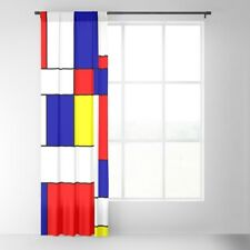 "Society6 Mondrian Color Block Blackout Curtain  50"" x 92"" Mid Century Abstract"
