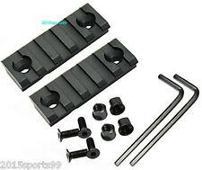 a Pair Keymod 5 Slot Picatinny/Weaver Rail 2 inch For Handguard Rail Aluminum 12