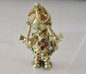 9ct Gold Rag Doll Pendant