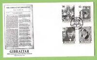Gibraltar 2001 The Gibraltar Chronicle set First Day Cover