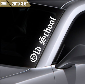 Old School Windshield Sticker Vinyl Window Decal Car Sticker Fit Honda Mazda BMW