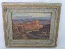 Along the Colorado painting on board by Cornelius Salisbury 1955
