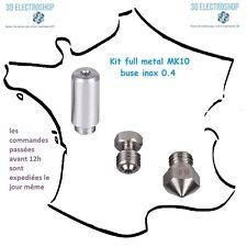 Kit full metal MK10 wanhao type microswiss buse inox