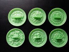 Set of 6 Snow Flaked Cake Molds,Large Size, Green Color, Khuôn Bánh In Lớn