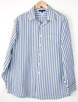 Tommy Hilfiger Herren Regular Fit Freizeit Formell Hemd Größe 17 (34/35) BAZ528
