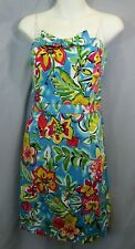 David Meister Womens 8 M Strapless Sheath Dress Blue Floral Party Wedding Bow