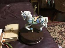 Carousel  Horse Music Box Ceramic & Wood~~Impulse Giftware~plays Carousel Theme