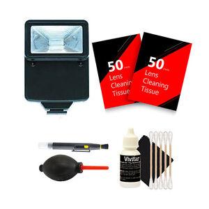 Slave Flash + 100 Lens Tissue + Top Cleaning Kit for Nikon DSLR Camera