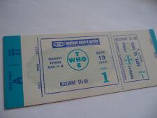 THE WHO 1979 Original__UNUSED CONCERT TICKET__Madison Square Garden, NYC