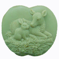 Deer and Rabbit - Silicone Molds Soap Mold Candle Mould DIY Soap making Tools
