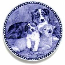 Australian Shepherd Dog - Dog Plate made in Denmark from the finest European Por