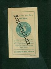 altes Werbeblatt Arnold Holste Wwe. Bielefeld Kaiser Natron Glücksblatt 1930er