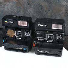 ^Polaroid Autofocus 660 SE & Polaroid One Step Flash [AS-IS]