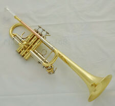 Prof. Gold C key Trumpet Rose Brass Cupronickel Tuning Fixed 3rd valv slide ring