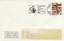 S80  enveloppe thème CHIEN internationale Hunde-ausstellung BASEL 16/17 01 88