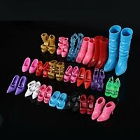 24pcs/12Pairs Shoes Boots For Doll Girl Play House Xmas Gift Random Color