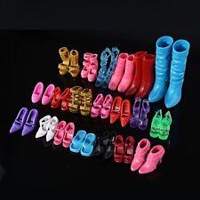 24 pièces / 12 paires bottes chaussures pour barbie poupée fille jeu maison
