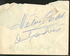 Bob Monkhouse, Denis Goodwin and Helene Cordet Autographs