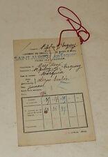 Ancienne FICHE de CLASSEMENT des CHEVAUX JUMENTS : MARQUISE née en 1928 ST-AUBIN