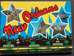 """Vintage Folder New Orleans """"America's Most Interesting City"""" 23 pp. + cover page"""