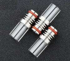 510er Drip Tip aus Edelstahl und Glas Driptip Mundstück für E Zigarette Atomizer
