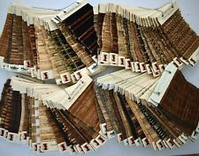 Lot of 99 WOOD ROMAN SHADE SAMPLES Bamboo Reed Grass EXOTIC NATURAL FIBERS Craft